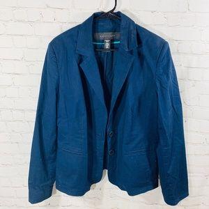 Apostrophe Navy Blue Plus Size Blazer Jacket